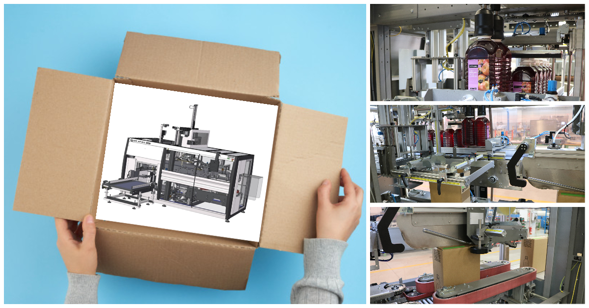 Three in one solution: product picking, container placing, box sealing…pack ready!