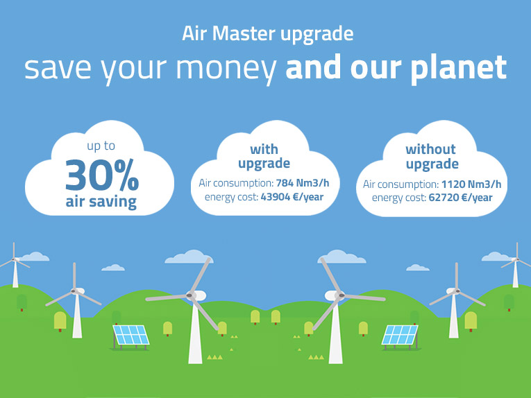 Air Master upgrade. Save your money and our planet