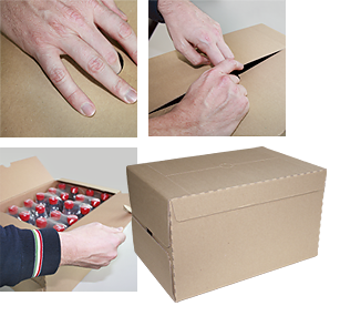 American-style boxes with Smiflexi wrap-around casepackers