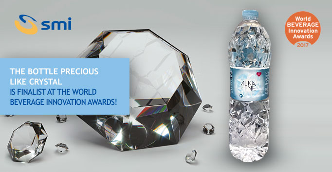 The bottle precious like crystal, is finalist at the World Beverage Innovation Awards!