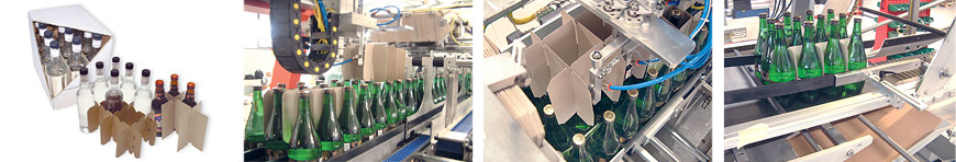 Overlapping cardboard sleeve packers