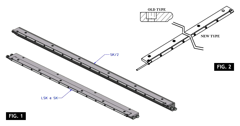ZF010120 - Replacement of the belt plate with a long-life roller plate