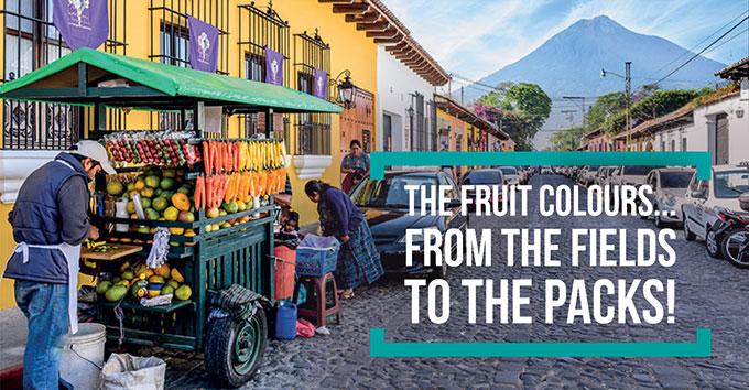 I colori della frutta ... dai campi alle confezioni!