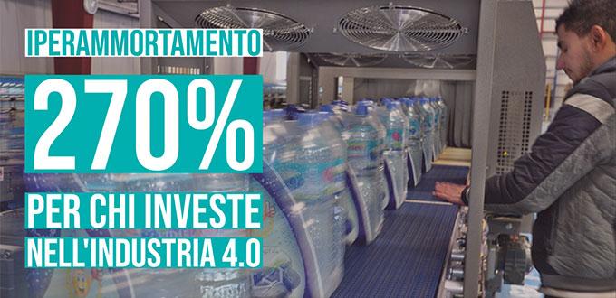 Iperammortamento 270% per chi investe nell'industria 4.0